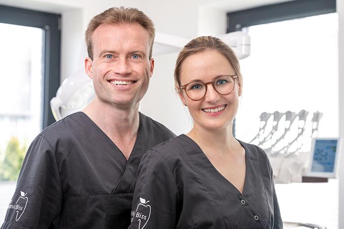 Ihre Zahnärzte – Dr. med. dent. Michael Wedekin und Caroline Profitlich